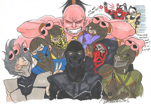 Mortal (Ninjas and Goro) Kombat by uekiOdiny