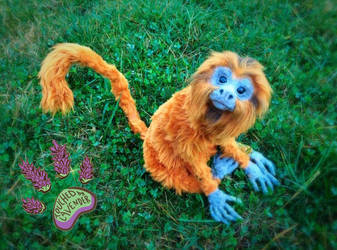 Touchedbylavender recycled poseable tamarin
