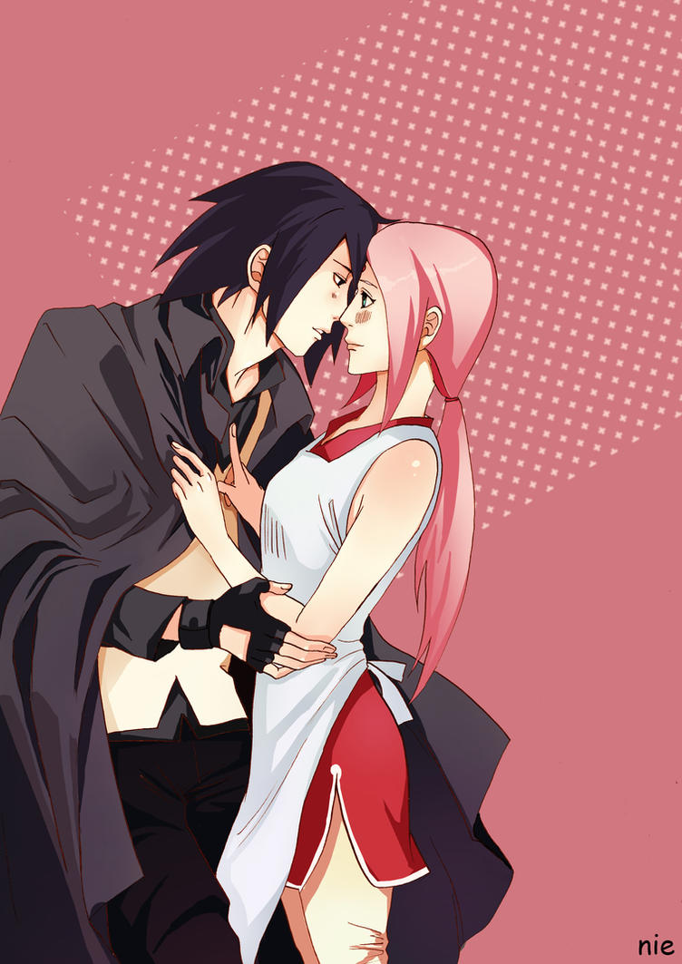 Sasusaku: Before leaving for a mission by litaone