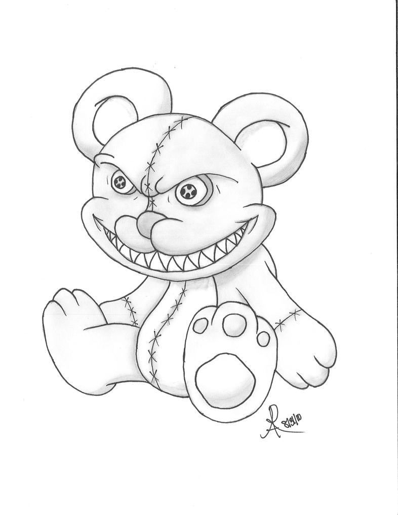 Collectionedwn Evil Teddy Bear Drawings likewise Scary Teddy Bear Drawings besides 2 as well Drawing Of Teddy Bear further Evil Bear. on scary creepy teddy bears