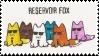 Stamp 'Reservoir Fox' by PizzaFisch