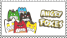 [stamp] Angry Foxes by PizzaFisch