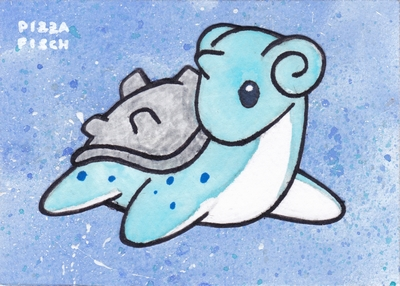 ACEO 049 - Lapras by PizzaFisch