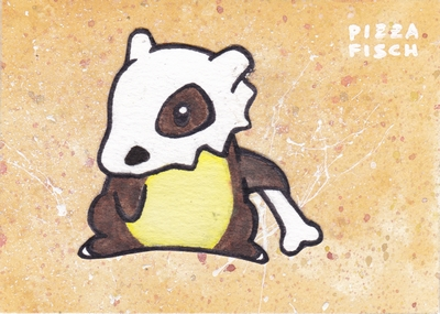 ACEO 050 - Cubone by PizzaFisch