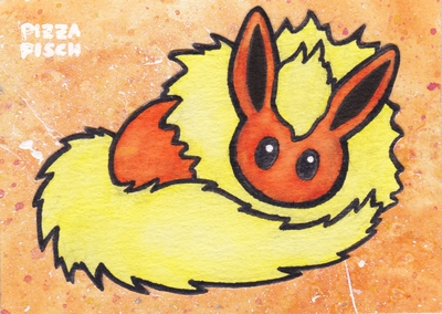 ACEO 052 - Flareon by PizzaFisch