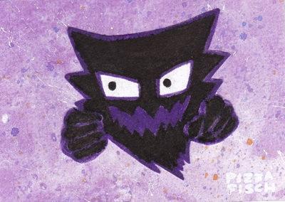 ACEO 053 - Haunter by PizzaFisch