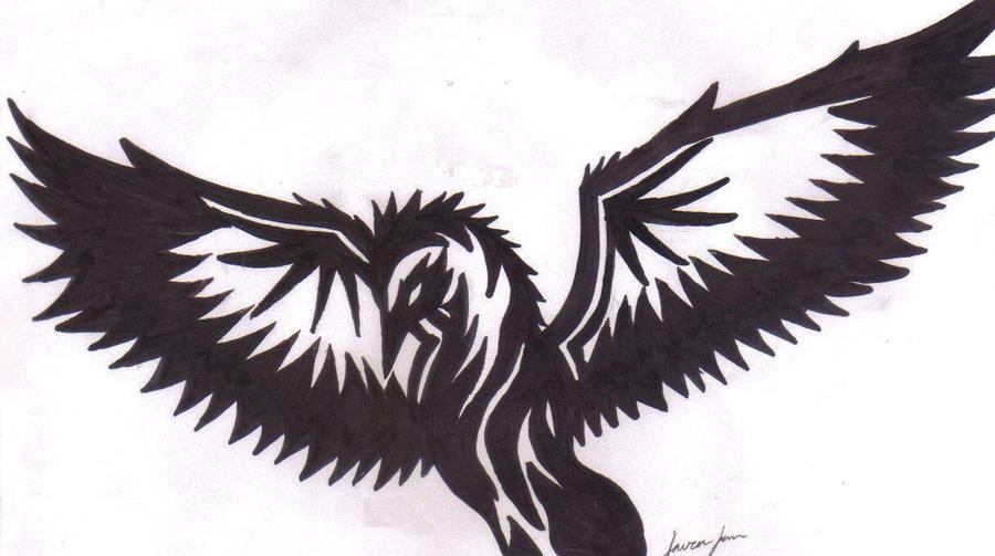 Tribal bird tattoo thing by ~lordsesshomarusgf on deviantART
