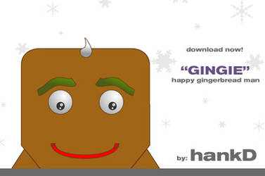 Gingie 'Happy' - blokhed by hankd