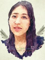 Angel in Blue by onionslumzero