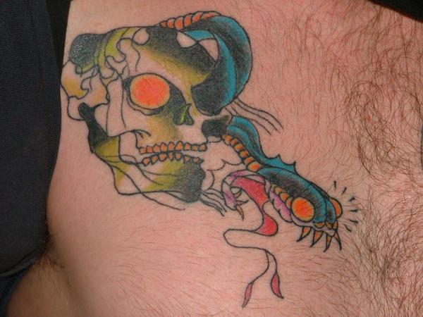 Best Tattoo Des... New School Snake Tattoo