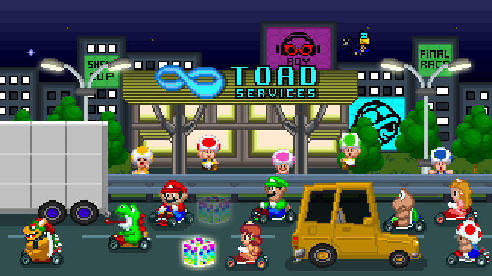 Pixelated Toad Turnpike By Thenin10dow On Deviantart