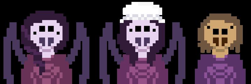 Spider girls pixel art