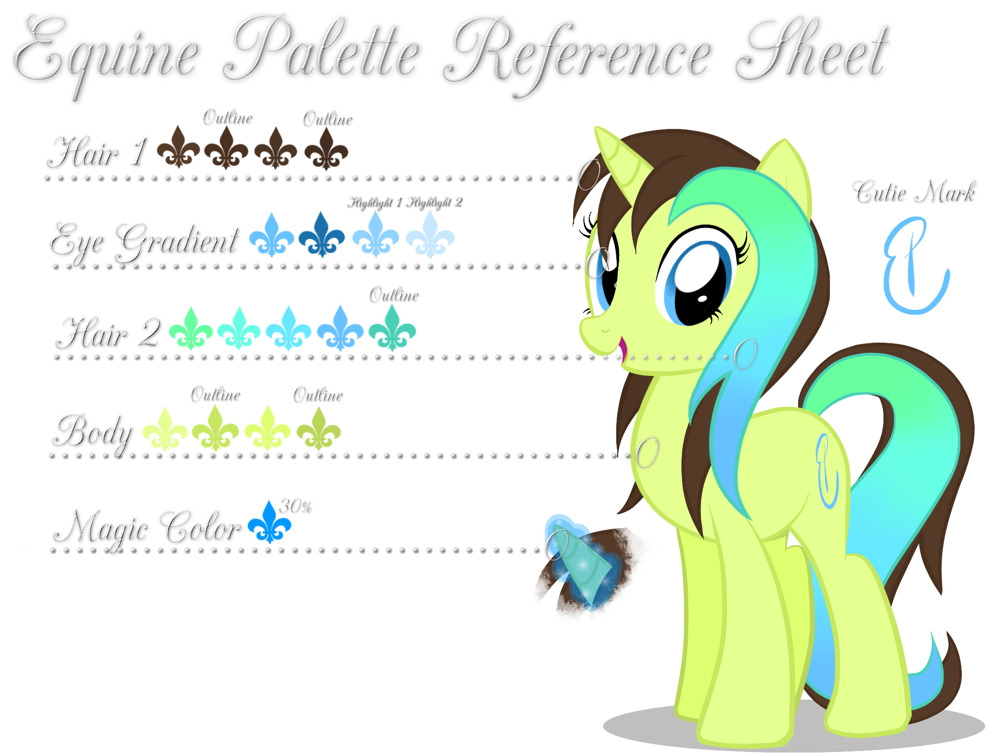Equine Palette Reference Sheet by equinepalette