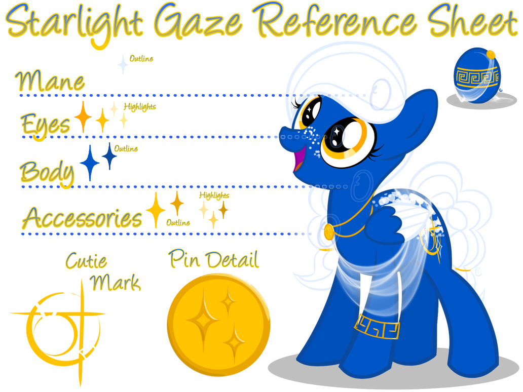 Starlight Gaze Reference Sheet by equinepalette