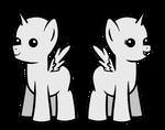 F2U: Chibi Pony Base/Lineart