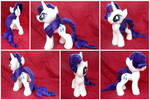 Rarity (a.k.a the Element of Fabulosity) Plush by equinepalette