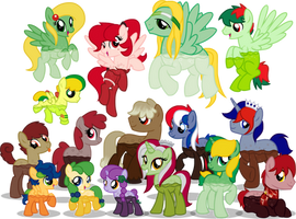 Meet the Soda Ponies! by equinepalette