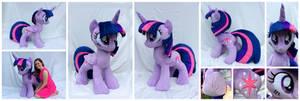 Lifesized Alicorn Twilight Sparkle Plushie by equinepalette
