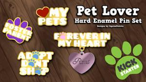 Pet Lover Hard Enamel Pins Kickstarter by equinepalette