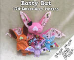 Batty Bat ITH Embroidery Pattern by equinepalette