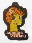 Acasias Zarafu Embroidered Badge by equinepalette