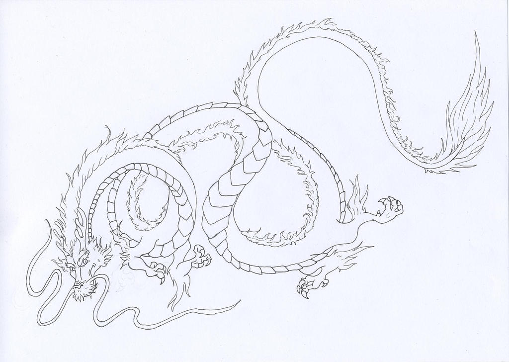 Pencil Drawings Of Chinese Dragons Chinese dragon by yuzukimadoko