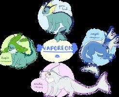 vaporeon variations by creamwave