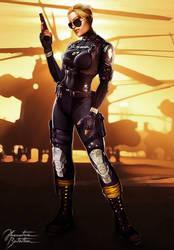 Mortal Kombat X: Cassie Cage by JhonatasBatalha