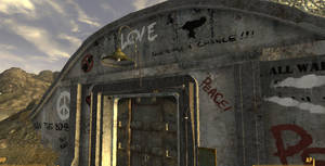 New Vegas Bunker Graffiti