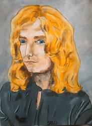 Robert Plant Acrylic Painting