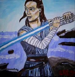 Rey training by Zandoz