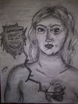 Depression self portrait