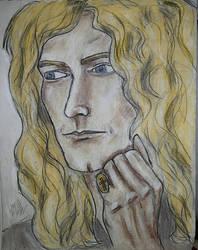 Robert Plant charcoal
