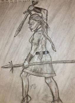 Queen Boudica Charcoal