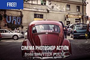 Free Cinema Photoshop Action by shutterpulse