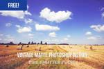 Free Vintage Matte Photoshop Action