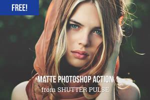 Free Matte Photoshop Action by shutterpulse