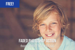 Free Faded Photoshop Actions by shutterpulse