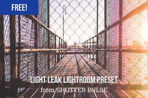 Free Light Leak Lightroom Preset by shutterpulse