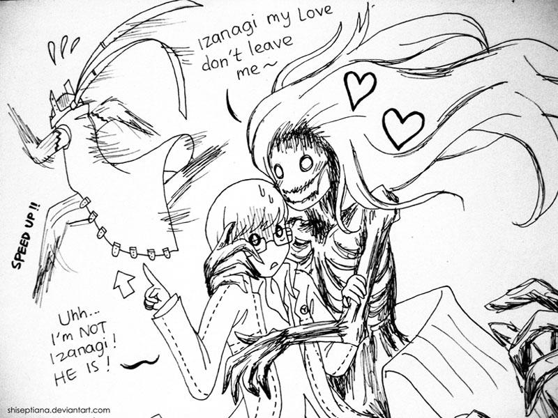 Izanagi And Izanami Persona 4 P4 Izanami-no-OkamixSouji by
