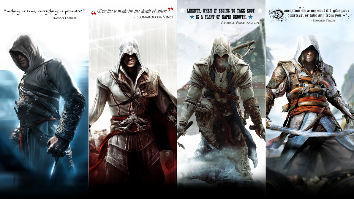Assassins Creed Altair Ezio Connor And Edward By Okiir