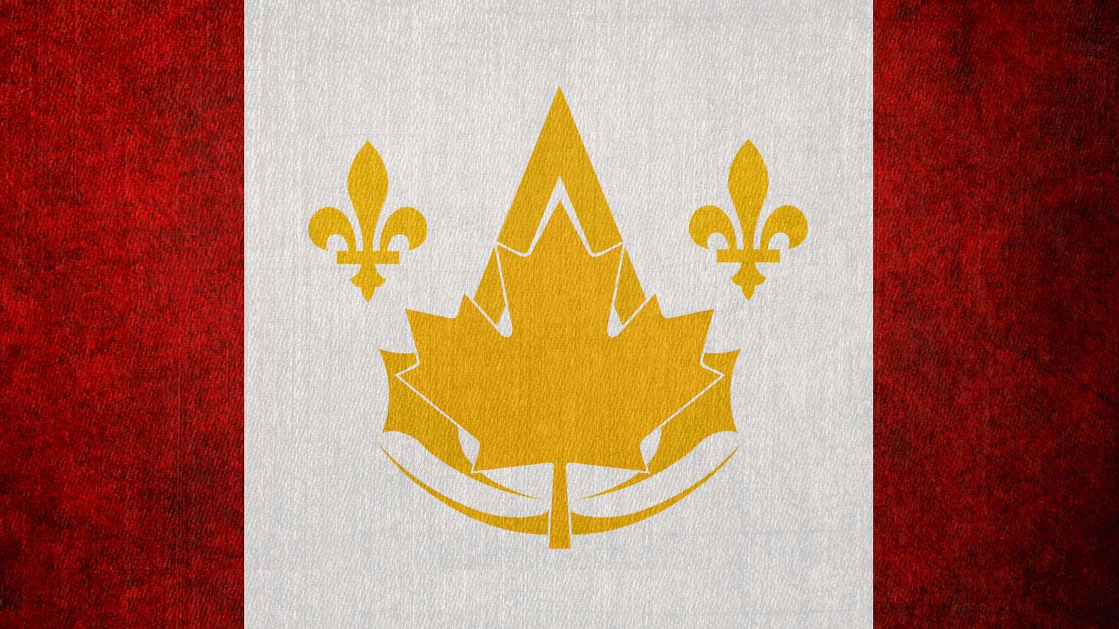 assassin u0027s creed canadian bureau flag by okiir on deviantart