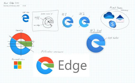 Edge Icon Design Process