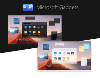 Concept: Microsoft Gadgets Dark Mode