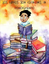 Books are steps... by Sir-Pumpkinhead