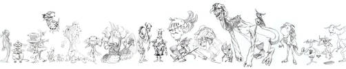 Character Line-up 3 by Sir-Pumpkinhead