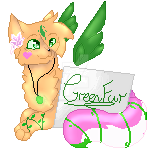 Pixel Sign~Commission-kittyfurever by DragonWarriorCat