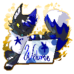 Pixel Sign Commission~SilverSocks112 by DragonWarriorCat