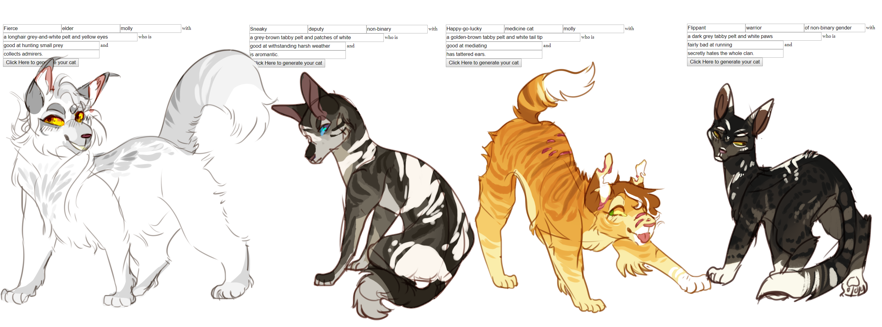 Warrior Cat| Auction| Generator | Open | [4/4] by
