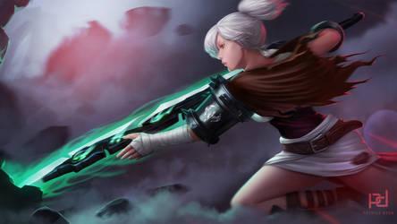 Riven - The Exile League of Legends Fanart